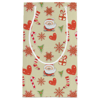 Bolsa De Regalo Pequeña Bastones de Santa y de caramelo - bolso del regalo