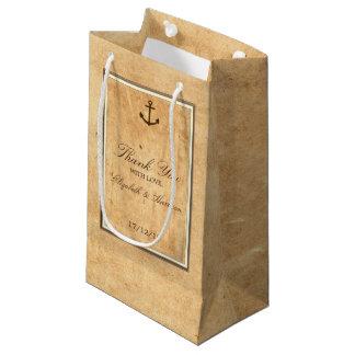 Bolsa De Regalo Pequeña Boda de papel enmarcado ancla náutica del vintage