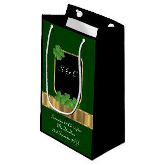 Bolsa De Regalo Pequeña Boda personalizado trébol irlandés verde