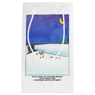 Bolsa De Regalo Pequeña Bolso a la deriva del regalo del muñeco de nieve