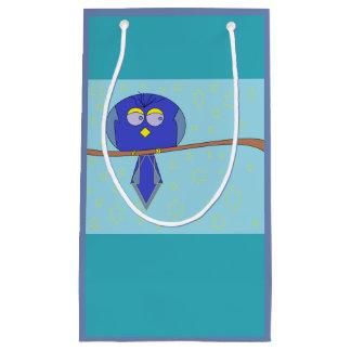 Bolsa De Regalo Pequeña bolso azul del regalo del pájaro del dibujo