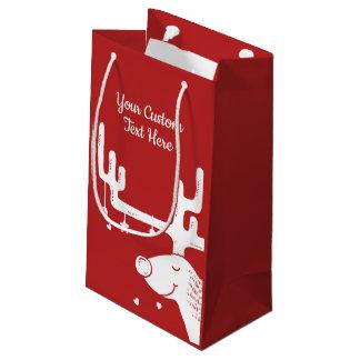 Bolsa De Regalo Pequeña Bolso de encargo del regalo del texto del