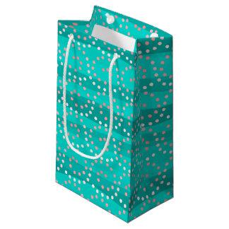 Bolsa De Regalo Pequeña Bolso de la turquesa y del regalo de las ondas del