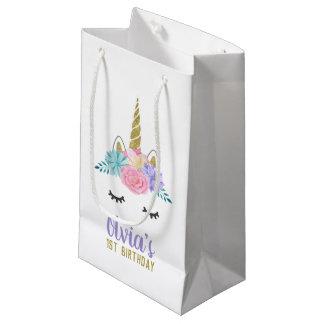 Bolsa De Regalo Pequeña Bolso del regalo de cumpleaños del purpurina del