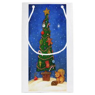 Bolsa De Regalo Pequeña Bolso del regalo del árbol de navidad