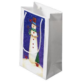Bolsa De Regalo Pequeña Bolso del regalo del muñeco de nieve