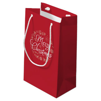 Bolsa De Regalo Pequeña Bolso del regalo del navidad con los elementos del