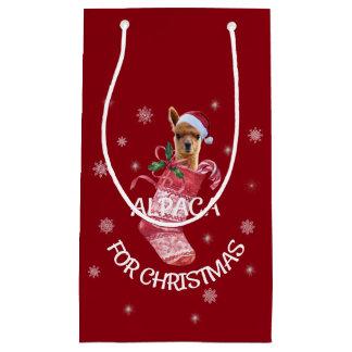 Bolsa De Regalo Pequeña Bolso del regalo del navidad de la alpaca