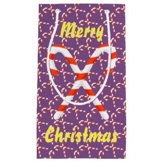 Bolsa De Regalo Pequeña Bolso del regalo del navidad del bastón de