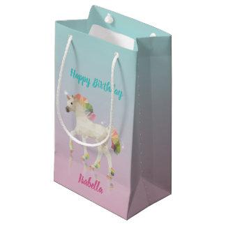 Bolsa De Regalo Pequeña Bolso del regalo del nombre del unicornio del arco
