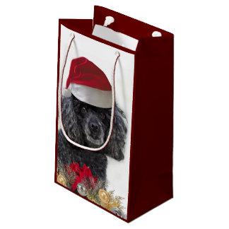 Bolsa De Regalo Pequeña Bolso del regalo del perro de caniche del navidad
