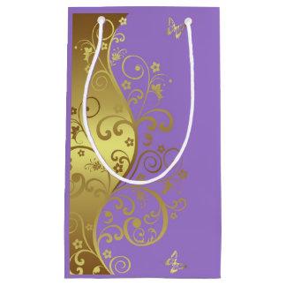 Bolsa De Regalo Pequeña Bolso del regalo--Remolinos y lavanda del oro