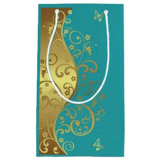 Bolsa De Regalo Pequeña Bolso del regalo--Remolinos y trullo del oro
