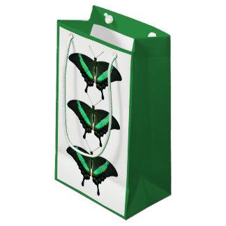 Bolsa De Regalo Pequeña Bolso esmeralda del regalo de la mariposa de