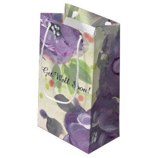 Bolsa De Regalo Pequeña Bolso florecido púrpura del regalo