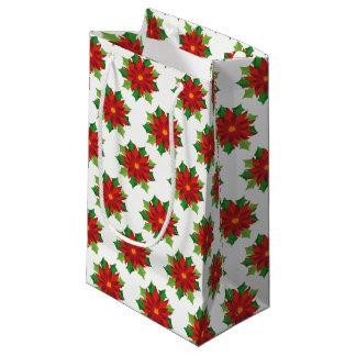 Bolsa De Regalo Pequeña Bolso-Poinsettias del regalo de vacaciones