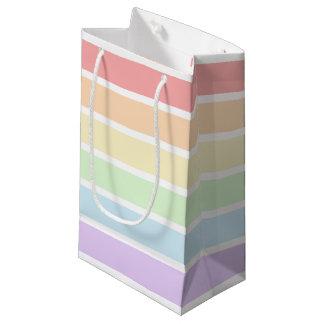 Bolsa De Regalo Pequeña Bolso rayado del regalo del arco iris en colores