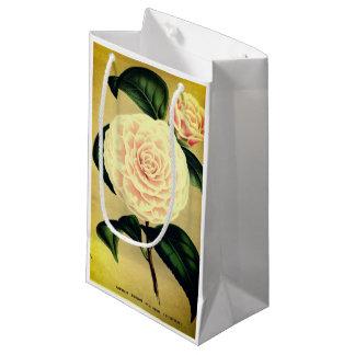 Bolsa De Regalo Pequeña Bolso rosado del regalo de la flor de la camelia