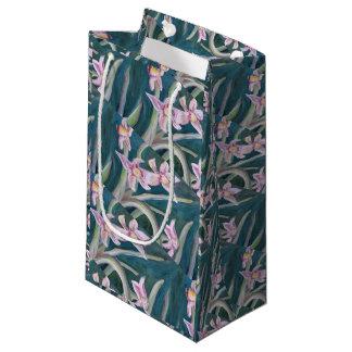 Bolsa De Regalo Pequeña bolso rosado del regalo de los narcisos
