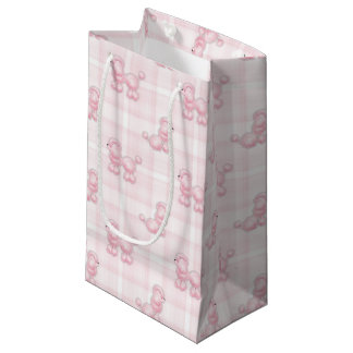 Bolsa De Regalo Pequeña Caniches y controles rosados lindos