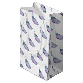 Bolsa De Regalo Pequeña Capullo azul y violeta
