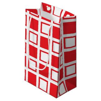 Bolsa De Regalo Pequeña Casillas blancas rojas y