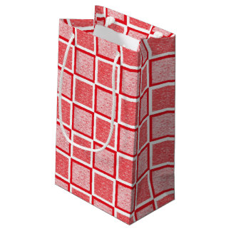 Bolsa De Regalo Pequeña Casillas blancas rojas y estáticas