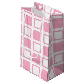 Bolsa De Regalo Pequeña Casillas blancas rosadas y