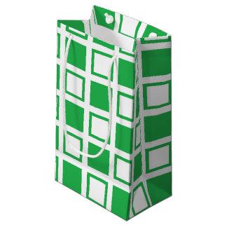 Bolsa De Regalo Pequeña Casillas blancas verdes y