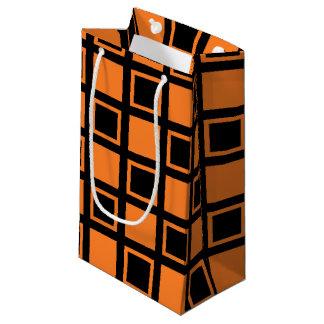 Bolsa De Regalo Pequeña Casillas negras anaranjadas y