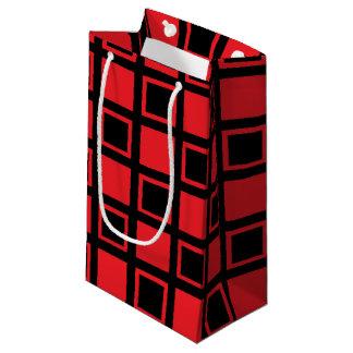 Bolsa De Regalo Pequeña Casillas negras rojas y