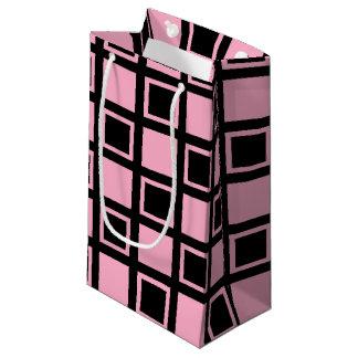 Bolsa De Regalo Pequeña Casillas negras rosadas y
