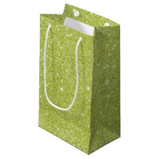 Bolsa De Regalo Pequeña Chispas del brillo de la verde lima