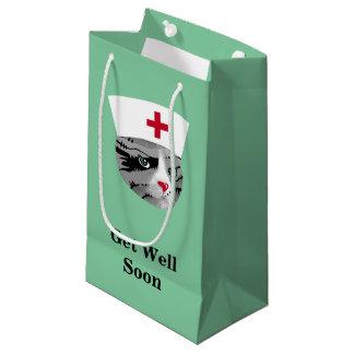 Bolsa De Regalo Pequeña Consiga el gato de la enfermera del pozo pronto