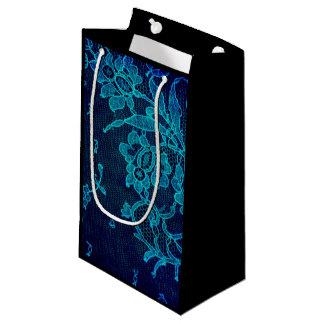Bolsa De Regalo Pequeña Cordón gótico de los azules marinos del Victorian