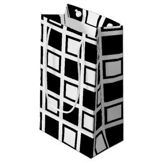 Bolsa De Regalo Pequeña Cuadrados blancos y negros