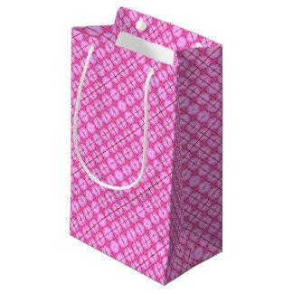 Bolsa De Regalo Pequeña Cuadrados rosados