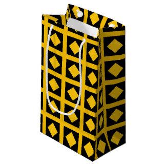 Bolsa De Regalo Pequeña Diamantes del oro y casillas negras