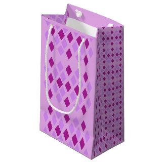 Bolsa De Regalo Pequeña Diamantes violetas de la berenjena del heliótropo