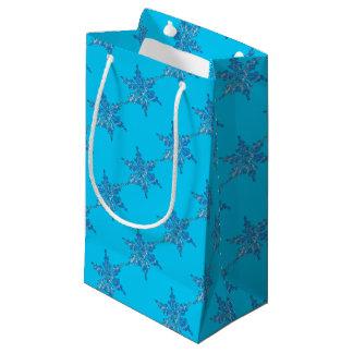 Bolsa De Regalo Pequeña Diseño del copo de nieve del invierno para Navidad