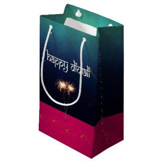 Bolsa De Regalo Pequeña Diwali feliz chispeante - pequeño bolso del regalo