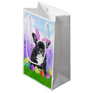Bolsa De Regalo Pequeña Dogo francés con los polluelos del conejito de los