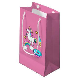 Bolsa De Regalo Pequeña El arco iris pooping del unicornio divertido