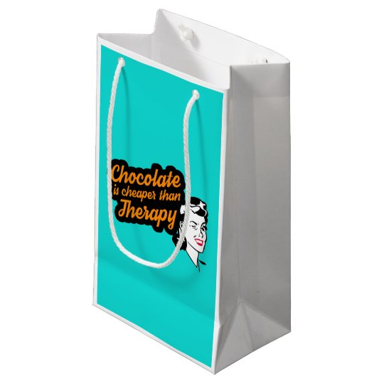 Bolsa De Regalo Pequeña El chocolate es más barato que bolso del regalo de