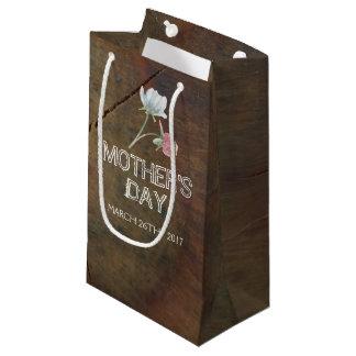 Bolsa De Regalo Pequeña El día de madre de madera de roble del Wildflower