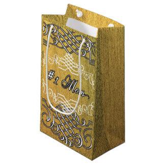 Bolsa De Regalo Pequeña el día de madre de oro de la tipografía de la mamá