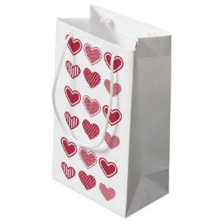 Bolsa De Regalo Pequeña El día de San Valentín rojo de los corazones