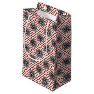 Bolsa De Regalo Pequeña El rojo comprueba remolinos multicolores del amd