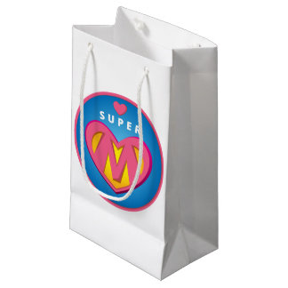 Bolsa De Regalo Pequeña Emblema divertido de la mamá del Superwoman del