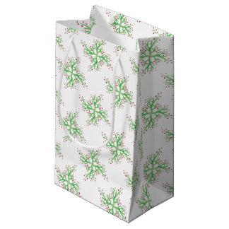 Bolsa De Regalo Pequeña envoltorio para regalos del diseño del acebo